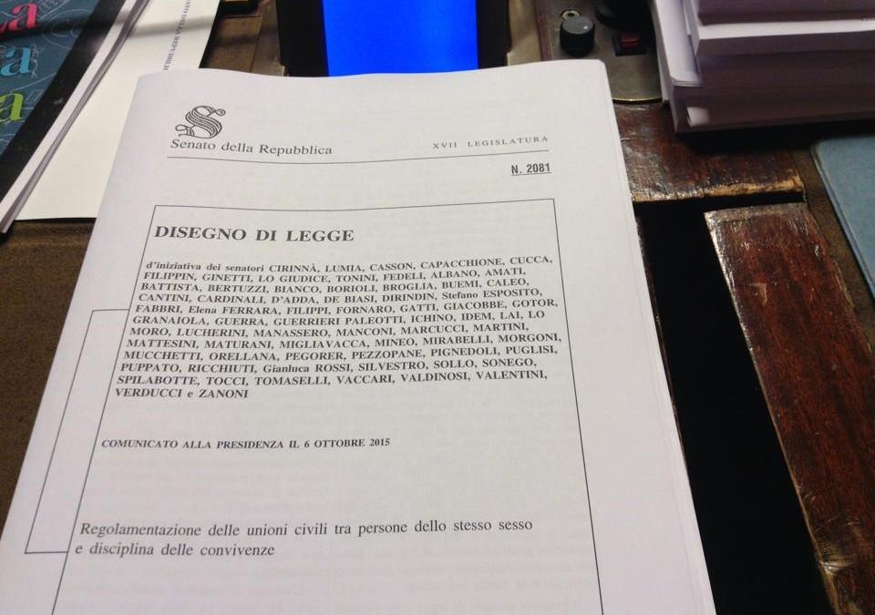 Il DDL sulle Unioni Civili