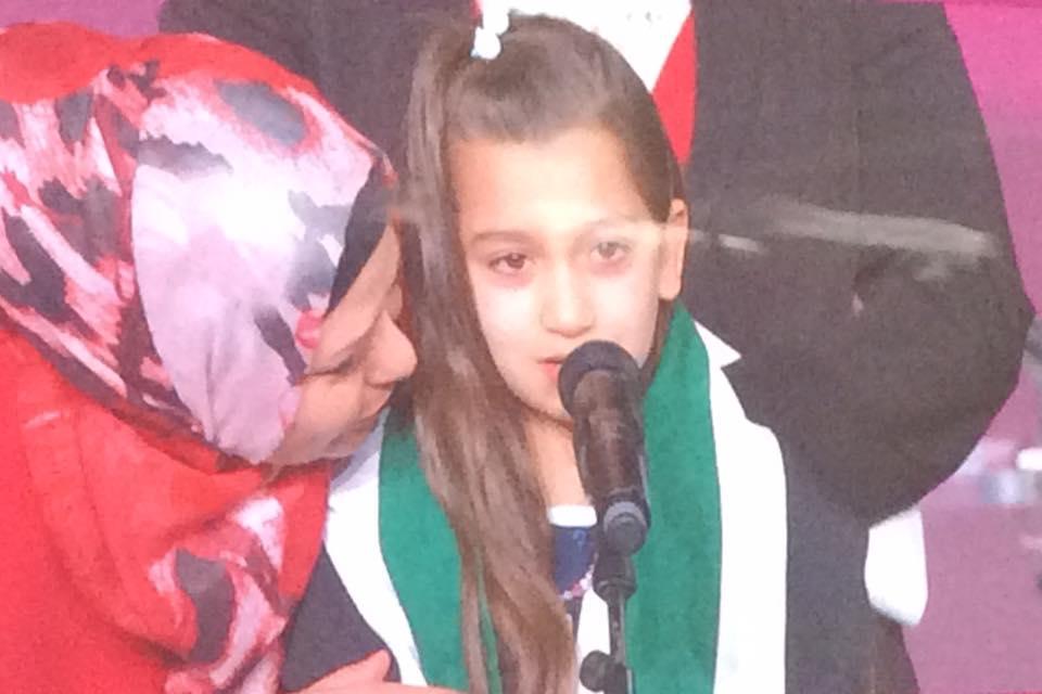 La bambina siriana e le sue lacrime