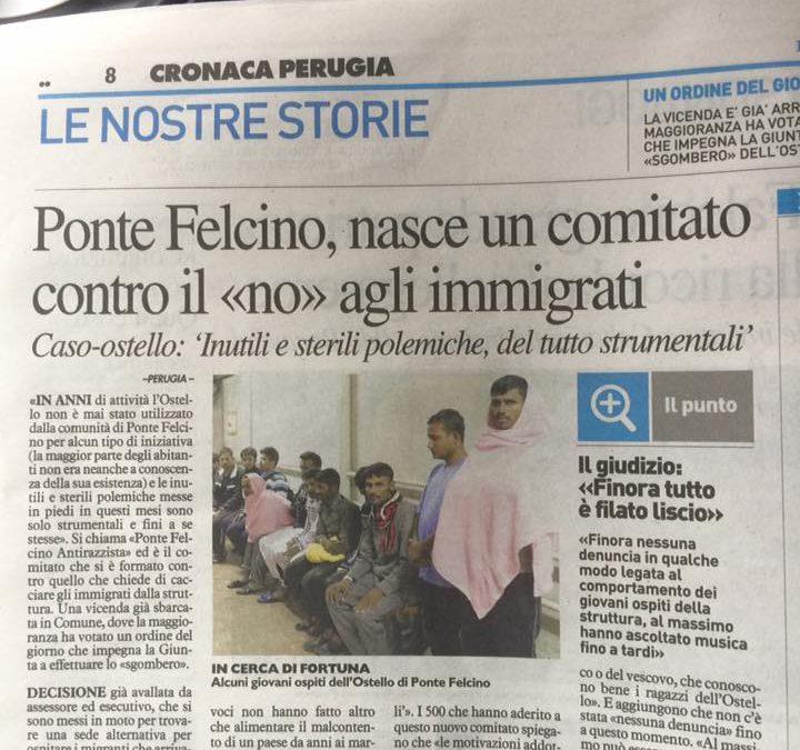 """Ponte Felcino, nasce un comitato contro il """"no"""" agli immigrati"""