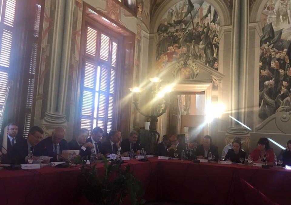 Delegazione della Commissione Politiche Unione Europea per l'incontro con la COSAC