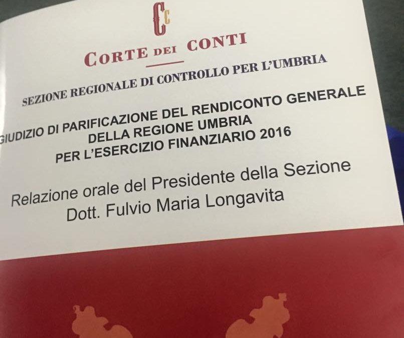 Giudizio di Parificazione del Rendiconto generale della Regione Umbria