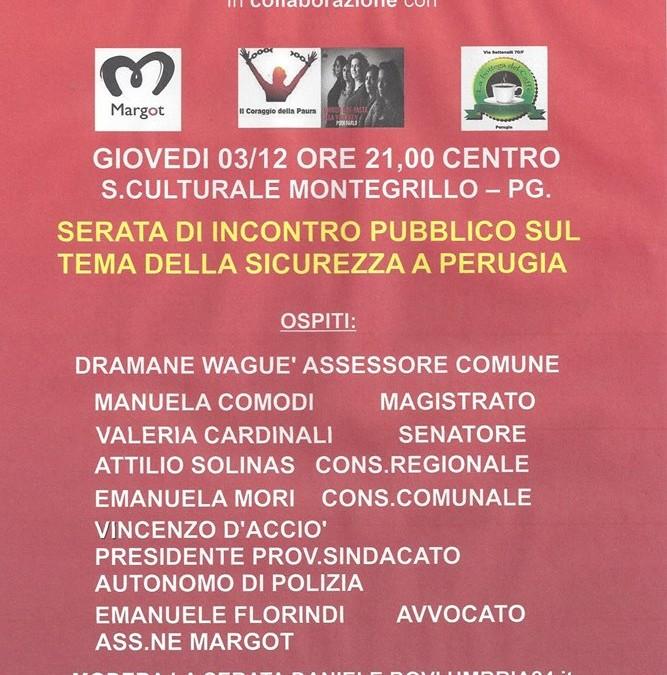 Incontro pubblico sul tema della sicurezza a Perugia
