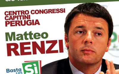 Matteo Renzi a Perugia per il Sì