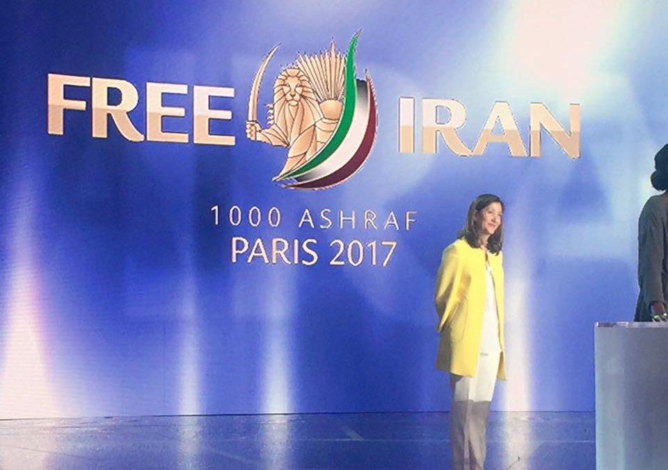 Conferenza internazionale del Consiglio Nazionale della Resistenza Iraniana a Parigi